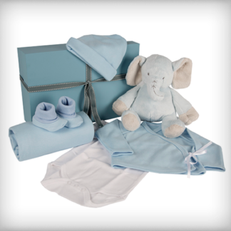 Blue Elephant Baby Box
