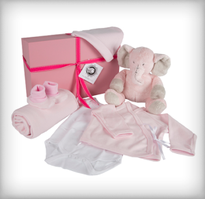 Pink Elephant Baby Box